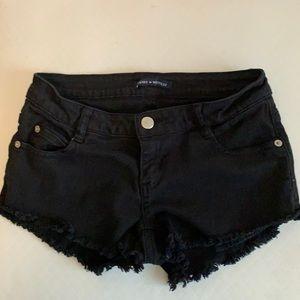 Brandy Melville black denim cut off shorts